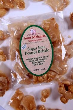 Sugar Free Peanut Brittle - 4 oz.
